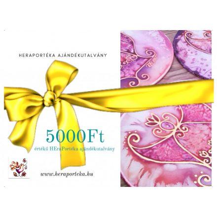 Ajándékutalvány HEraPortéka vásárlására 5000Ft értékben