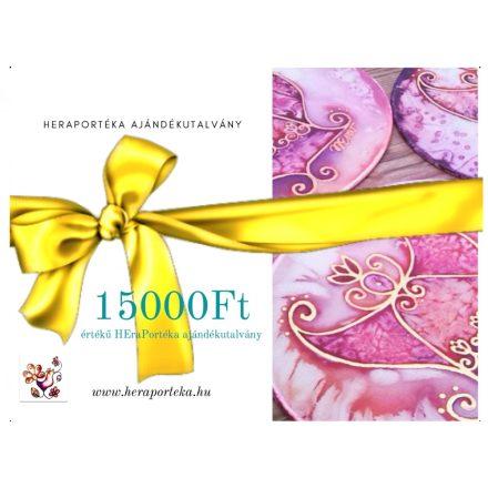 Ajándékutalvány HEraPortéka vásárlására 15000Ft értékben