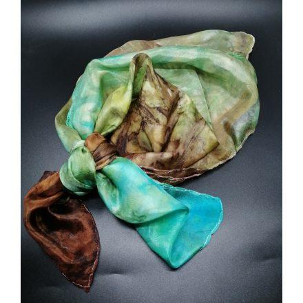 Geo valódi selyem kendő, kézzel festett hernyóselyem női kendő