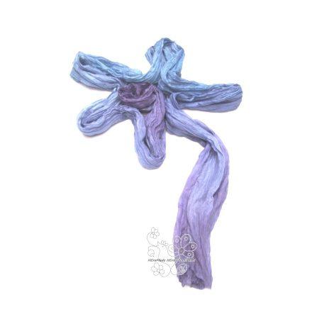 Gyűrt hosszú selyem sál, Harangvirág női selyem sál