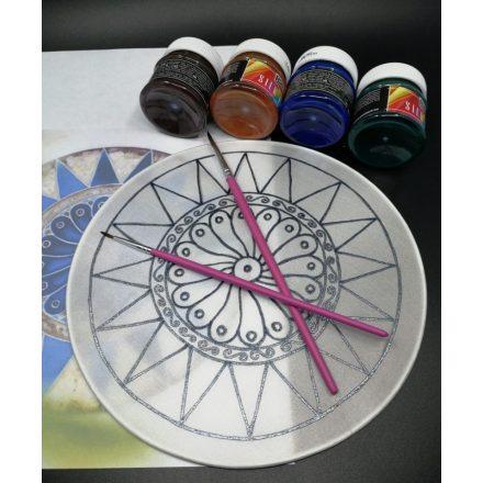 Mandala kifestő készlet, selyemfestő készlet, fess magadnak mandalát