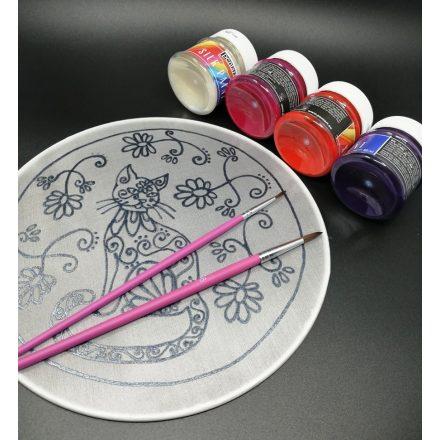 Cicuskám mandala szett, fess magadnak mandalát, selyem mandala festő készlet