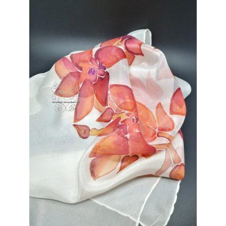 Orchideák selyemsál