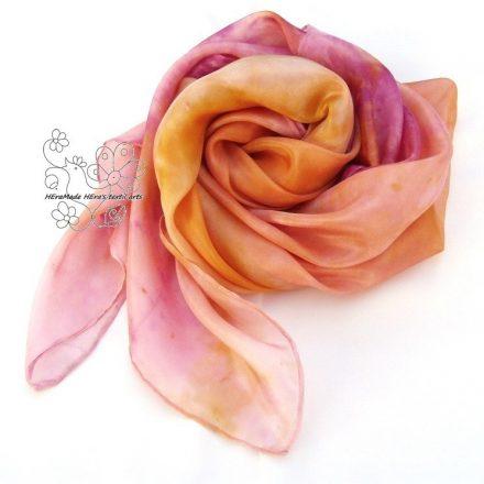 Tutti frutti hernyóselyem kendő, színes női selyem kendő