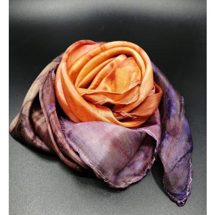 Ősz női selyem kendő, színátmenetes hernyóselyem kendő