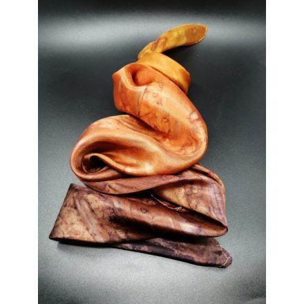 Barna színátmenetes selyem kendő, női valódi selyem sál