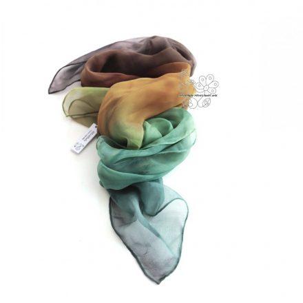 Geo női selyem kendő földszínekben