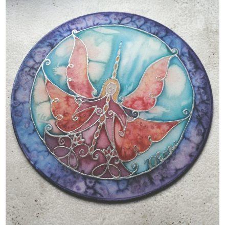 Őrangyal, szivárvány angyal, különleges kopogtató