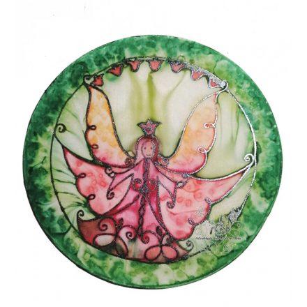 Mosolygós angyal, karácsonyi dekoráció, kopogtató