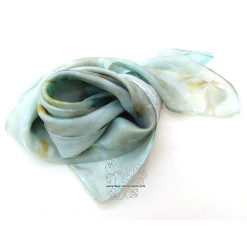 Zen pasztell női selyem kendő, kézzel festett hernyóselyem kendő